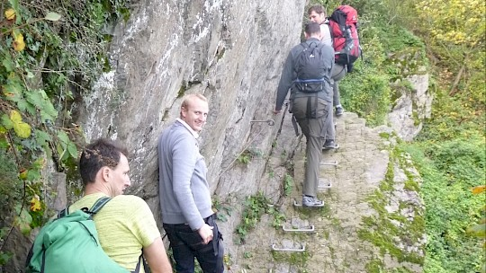 Climb the Via Ferrata Rhinevalley as a team